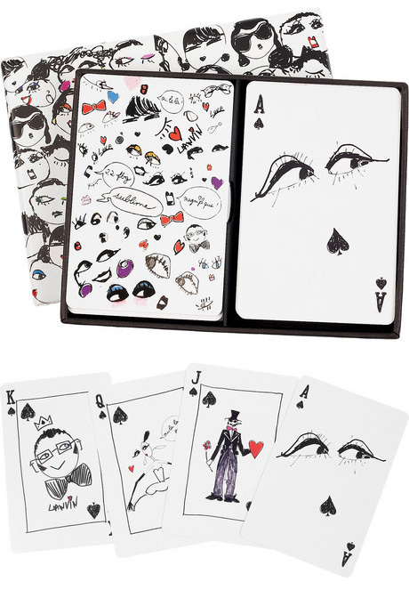 Lanvin Faces Playing Cards